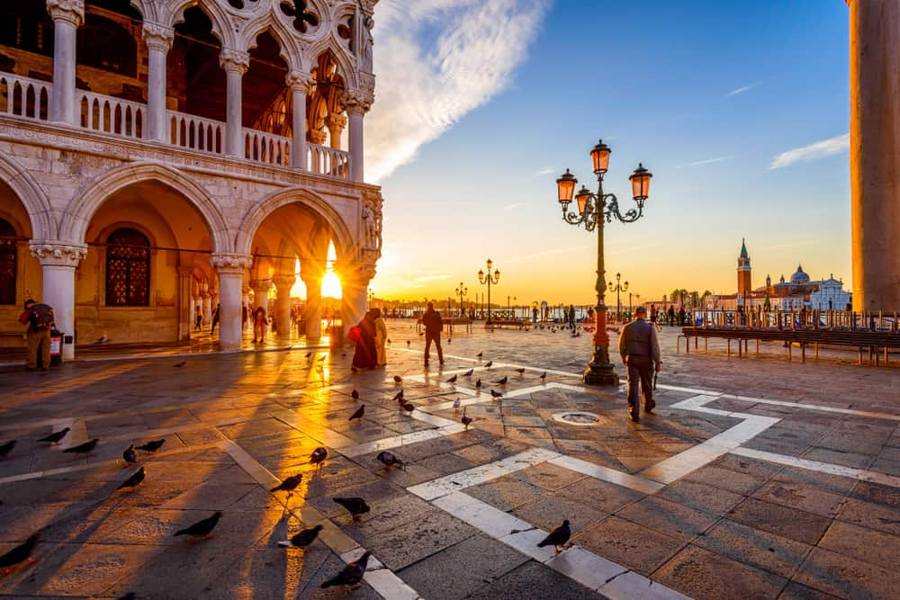 Sunrise in Venice on the perfect Italy itinerary