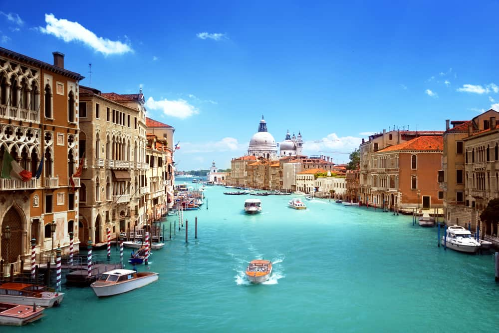 Venice Canal with Blue Water