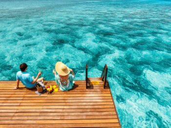 Photo of a Couple that Could Be You on Your Maldives Honeymoon