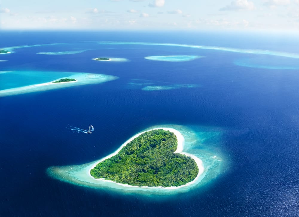 Photo of a Heart Shaped Island to Check Out on Your Maldives Honeymoon