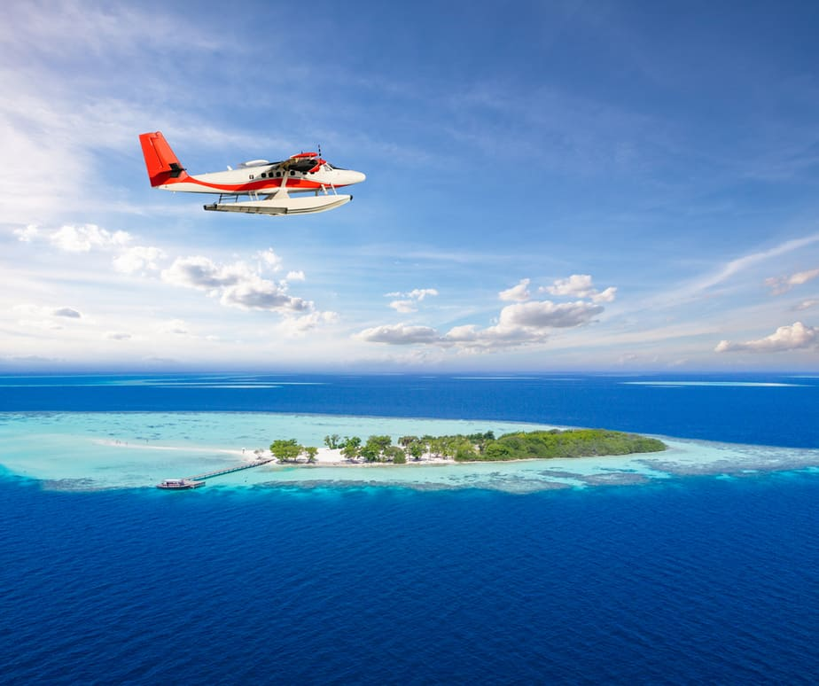 Photo of Seaplane, One of the Ways to Get Around During Your Maldives Honeymoon