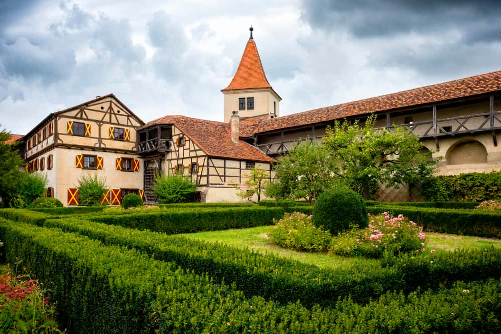Harburg Castle Courtyard on the Romantic Road Germany