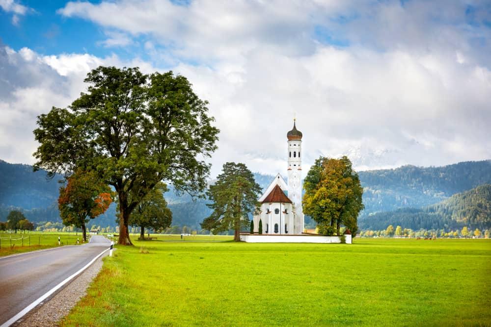 St Koloman's Church in Schwangau on the Romantic Road Germany