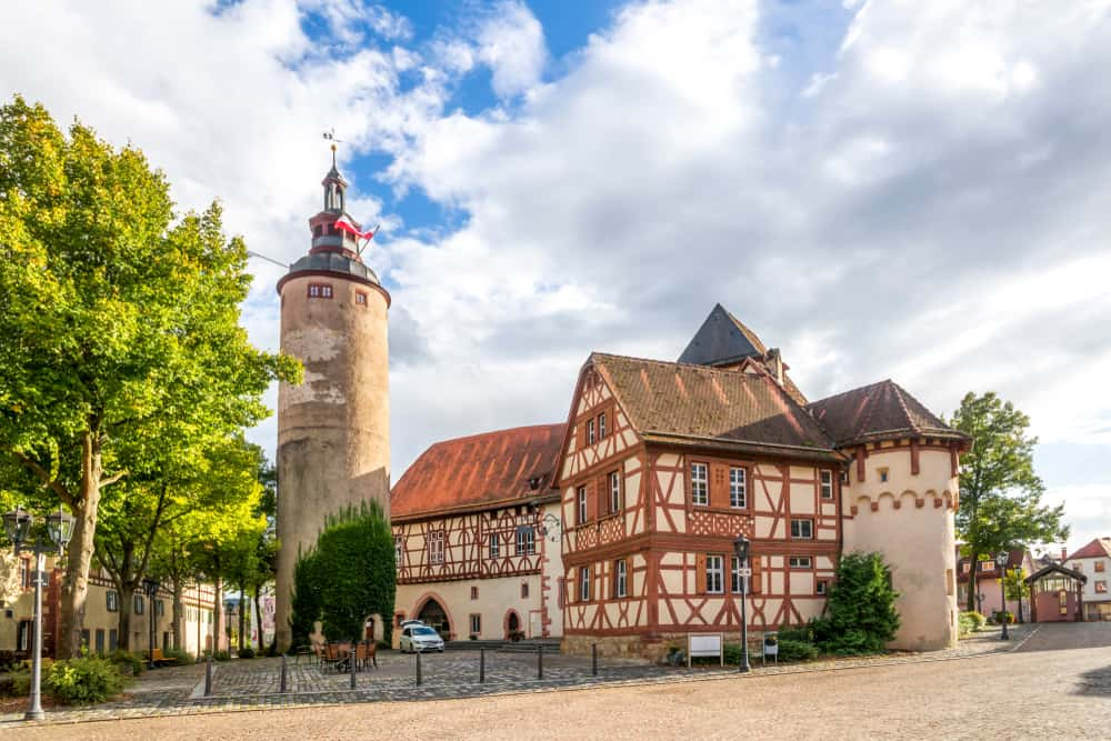 the former castle and seat of the Archbishop in Tauberbischofsheim on the Romantic Road Germany