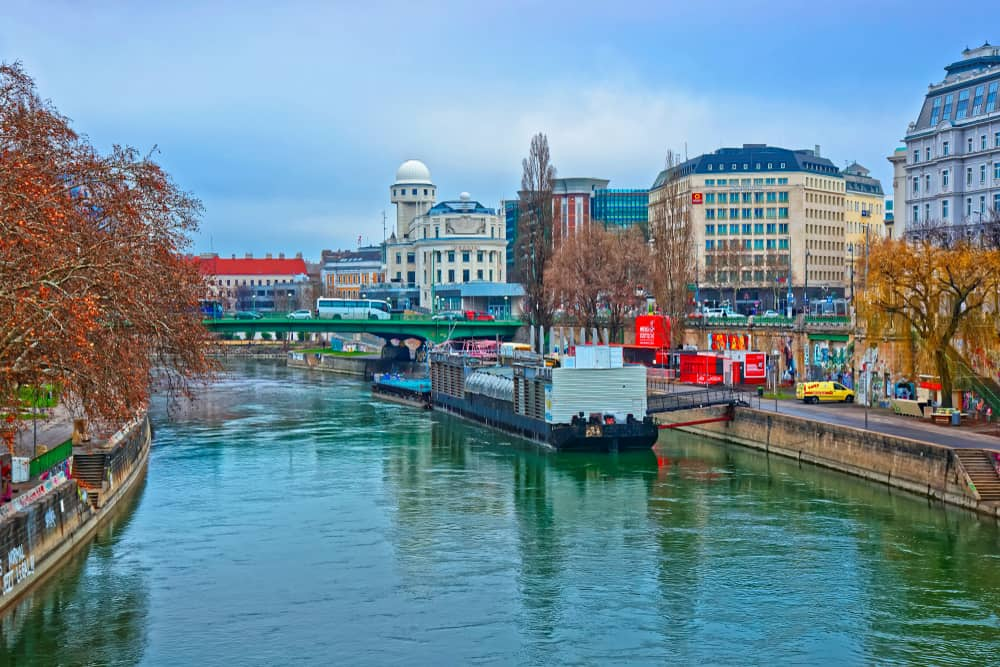 The Danube Canal features some great options on where to stay in Vienna