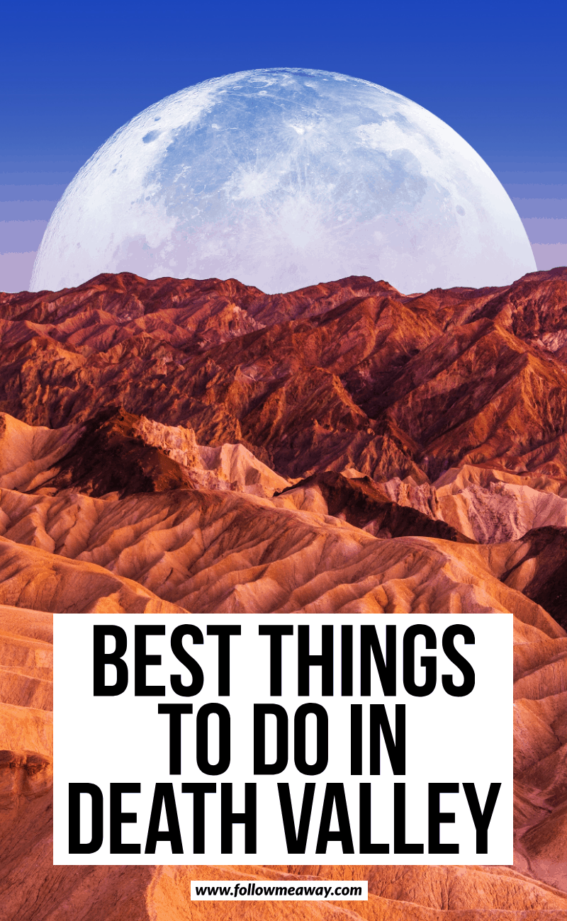 best things to do in death valley