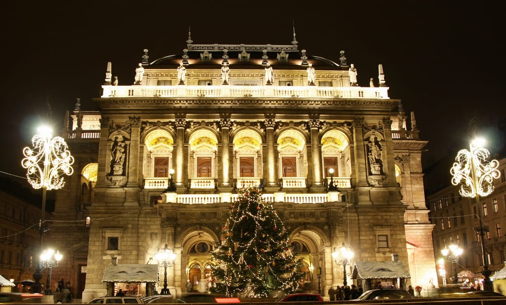 The Hungarian State Opera House is a beautiful building to visit during Budapest in winter