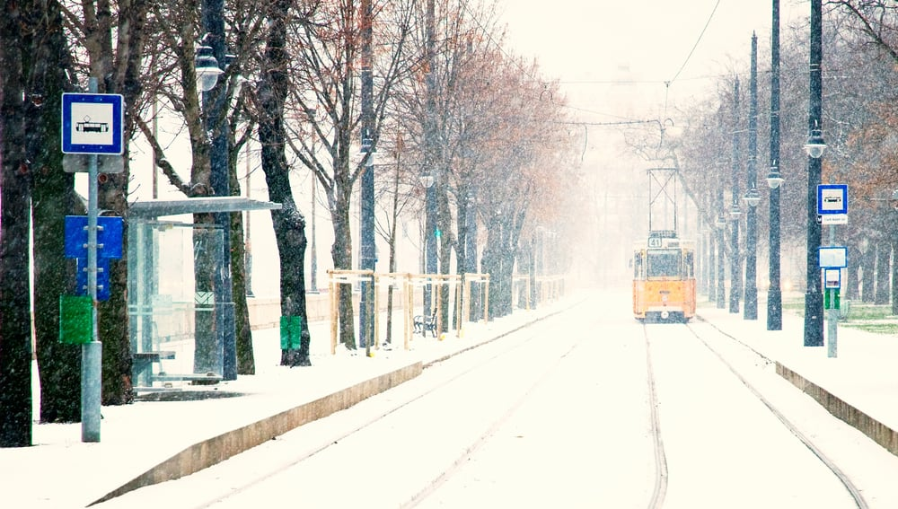 Use the tram for a fun ride when you go to Budapest in winter