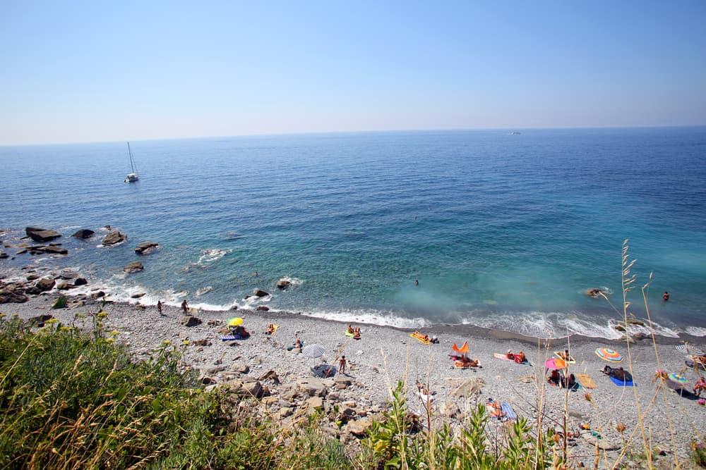 Photo of enjoying Cinque Terre beach Guvano.