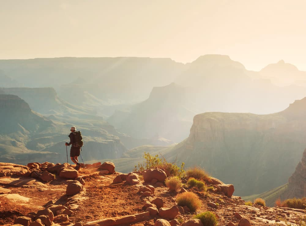 A hiker tackles one of the many Grand Canyon hikes