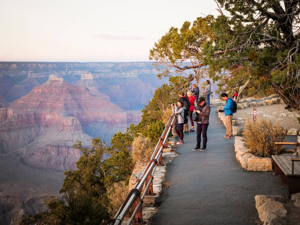 the Rim Trail is one of the best Grand Canyon hikes for great views