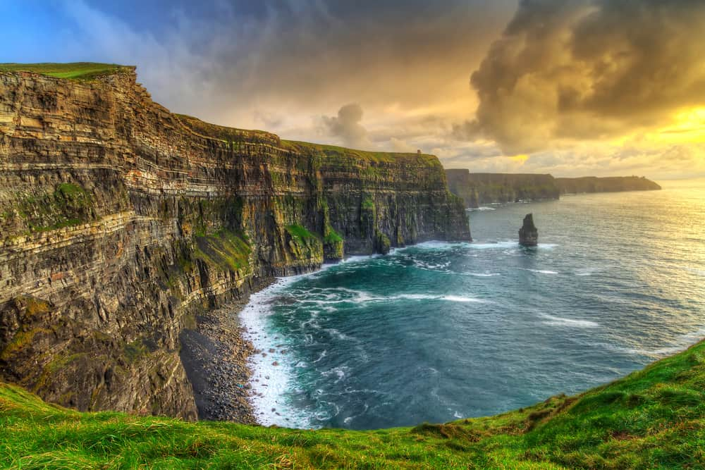 to visit the famous Cliffs of Moher on as one of the easy hikes in Ireland start from Doolin