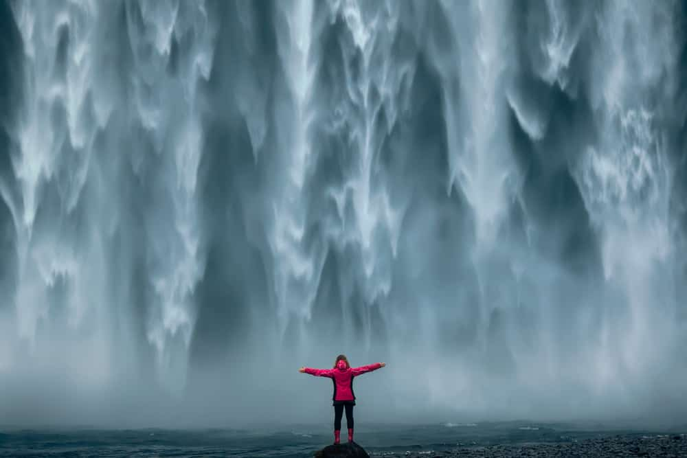 add a rain jacket to your Iceland packing list for rainy days and waterfalls
