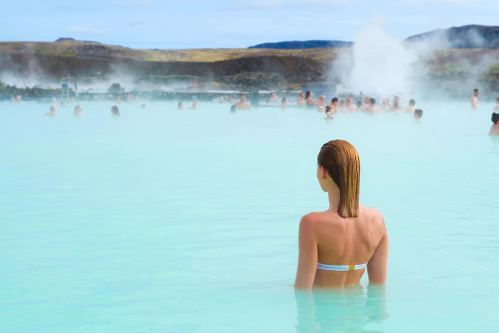 add a waterproof phone case to your Iceland packing list for hot spring bathing and rainy days