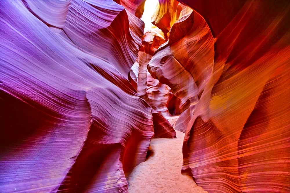 an empty passageway in Lower Antelope Canyon