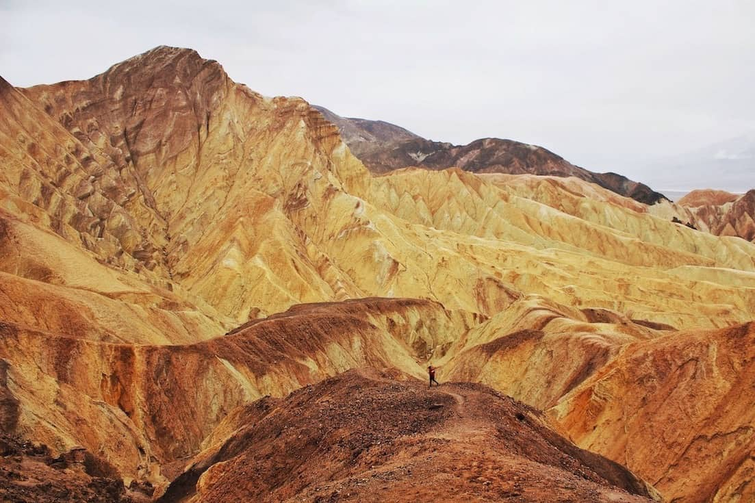 hiking Golden Canyon is one of the best things to do in Death Valley for avid hikers