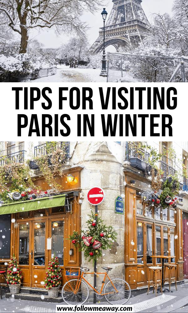 tips for visting paris in winter