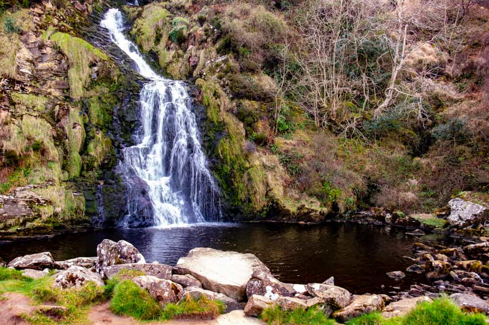 Image of Assaranca waterfall in Ireland