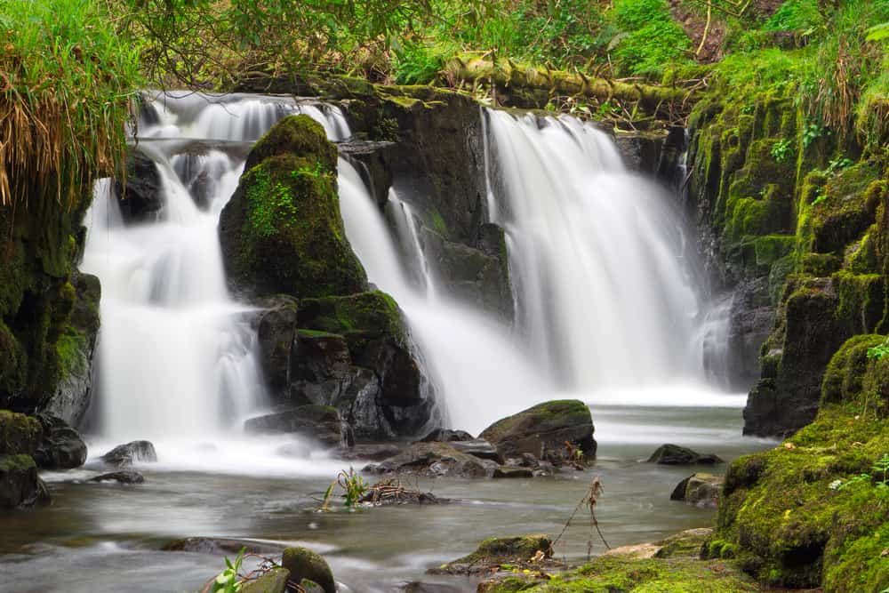 Clare Glens features multiple waterfalls in Ireland