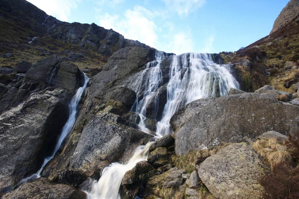 Mahon Falls tumbles over rocky cliffs in Ireland
