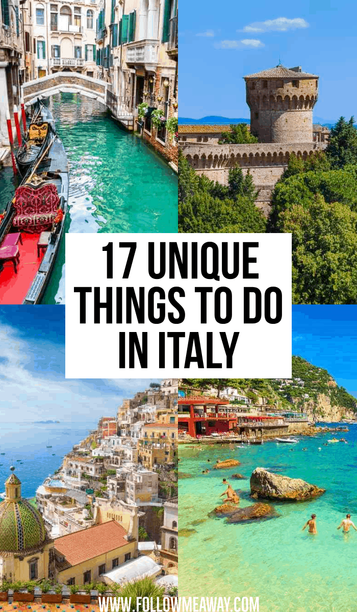 17 unique things to do in italy