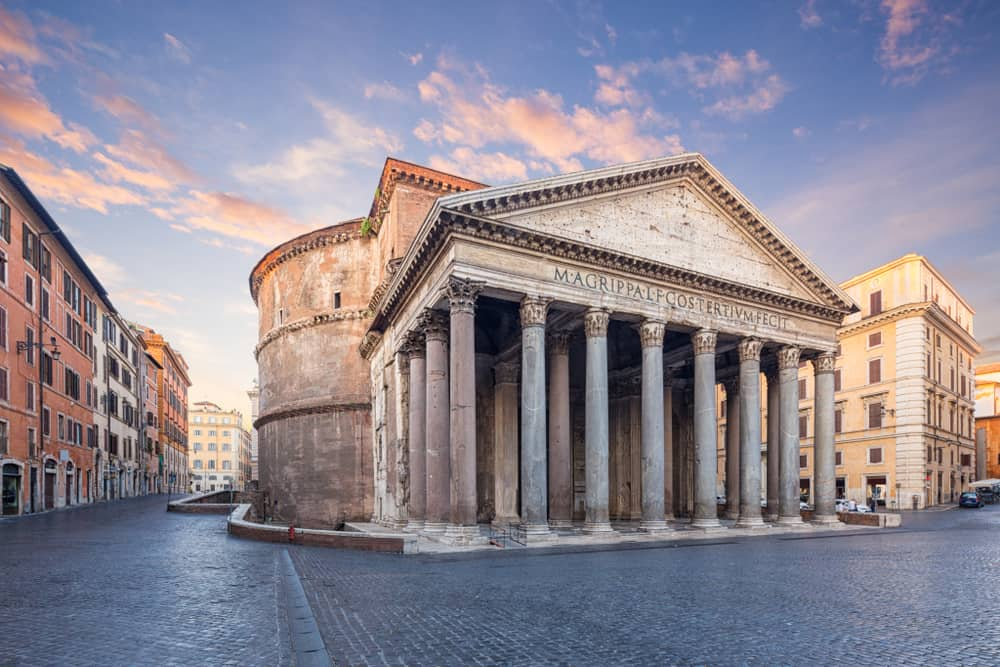 The Pantheon is an iconic temple of Rome that was built for the gods