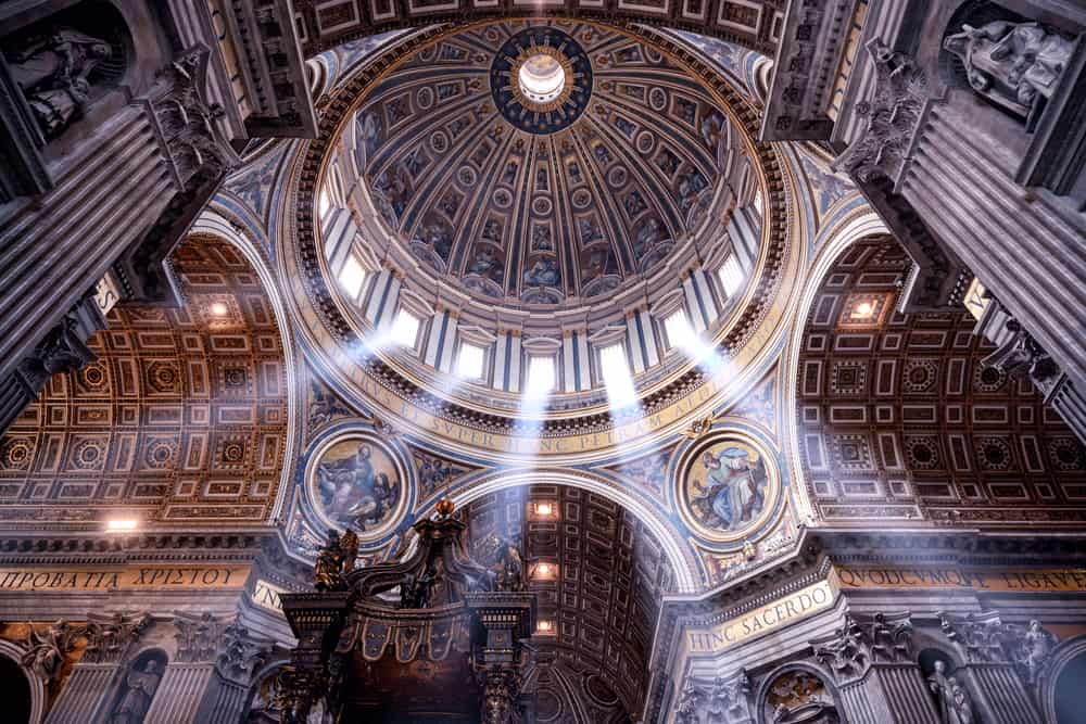 You can climb up to the dome of Saint Peters and see the beauty Micheolagneo created!