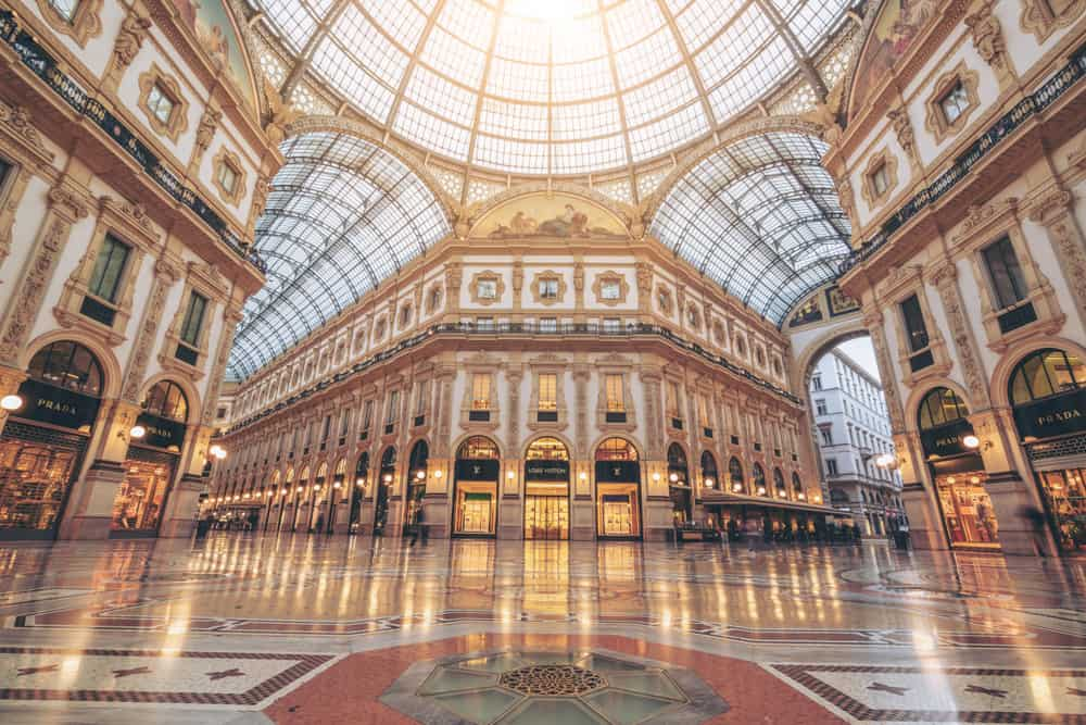 Go shopping in the prettiest mall in Italy during your 2 weeks in Italy itinerary