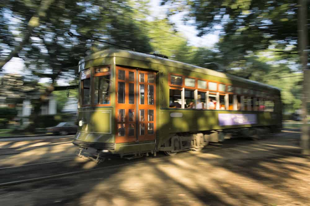 Saint Charles Streetcar In New Orleans