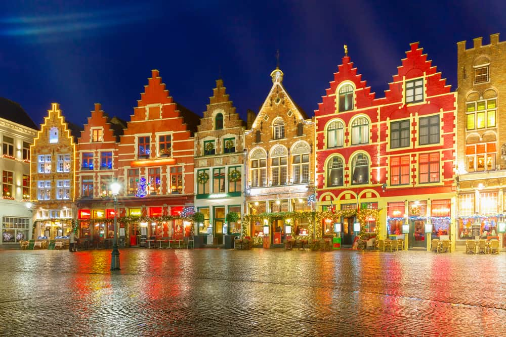 The Bruges Christmas market is a town market straight from a fairytale with its gorgeous architecture.