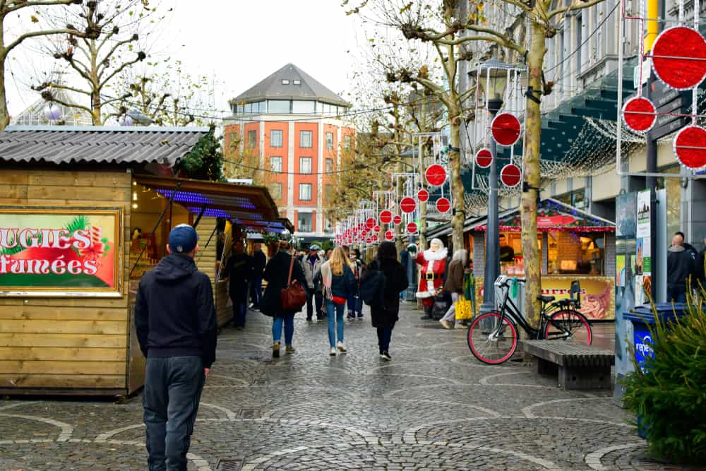 The Liege market is the oldest and biggest Christmas Market in Belgium