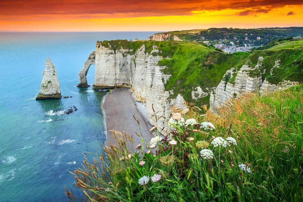 The lovely cliffs of Etretat, stop 2 on your France road trip!