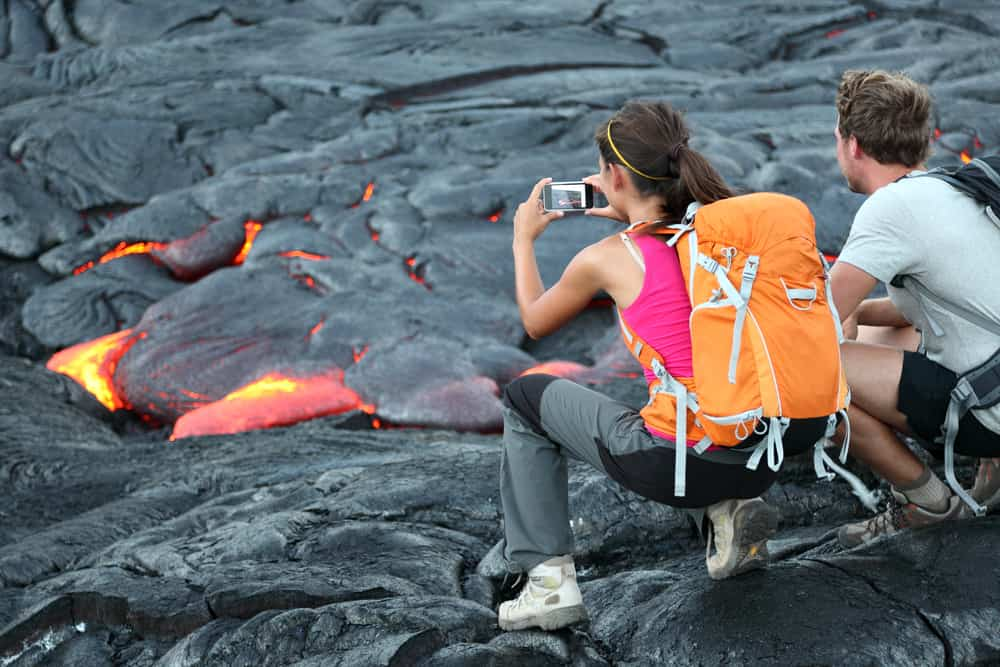 Photo of lava flows you could see on your Hawaii Honeymoon