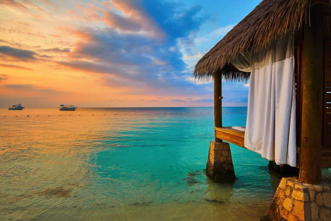 Photo of an Over Water Bungalow, A Beautiful Place to Stay During Your Jamaica Honeymoon