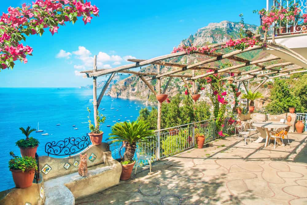 Portico in Positano things to do in Italy