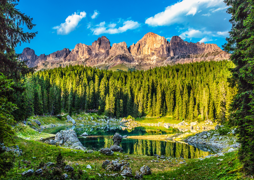 Lake Carezza is out of a fairytale!