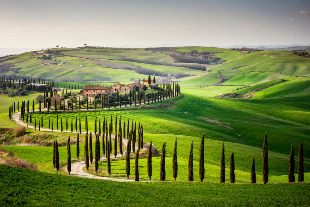 Val d'Orcia valley things to do in Italy