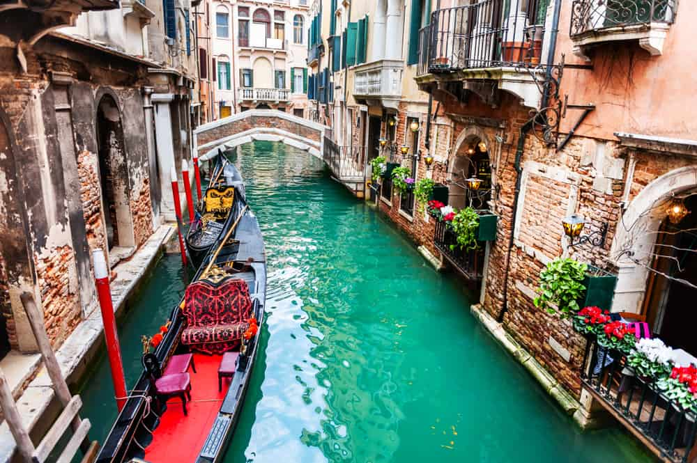 Gondola ride in Venice best things to do in Italy