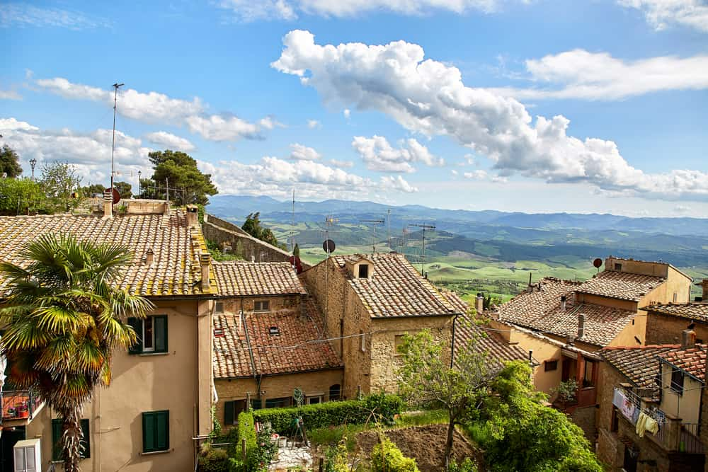 Volterra view looking into valley things to do in Italy