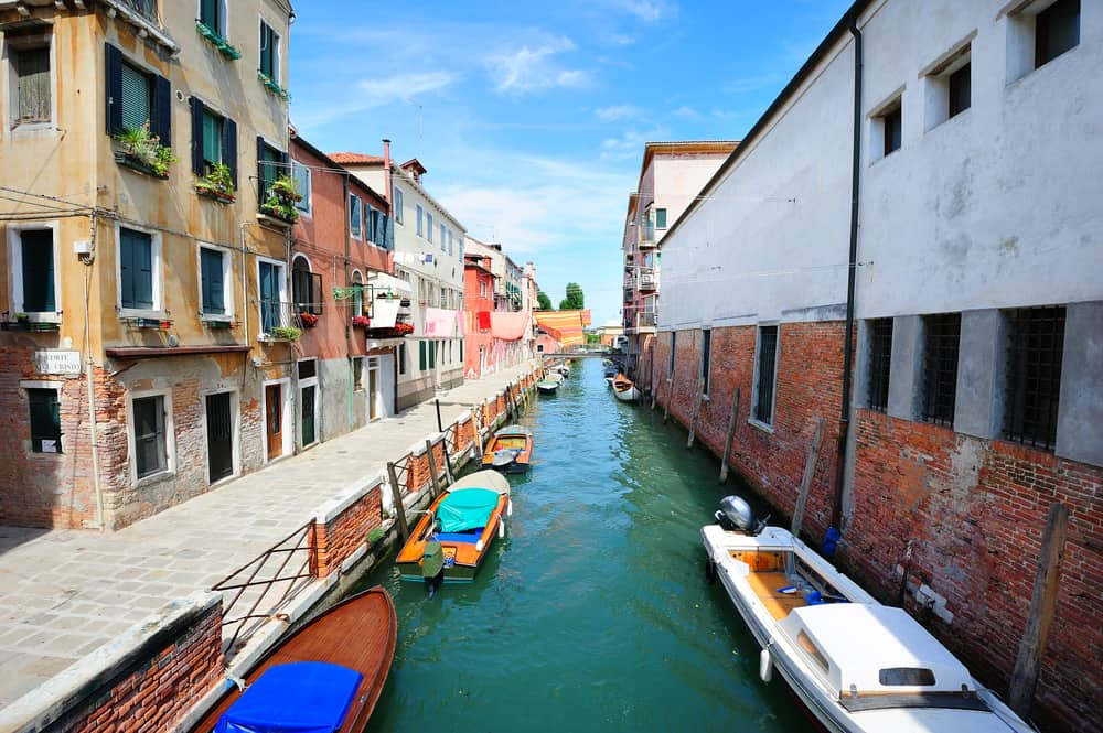 Awesome view of the canal in Castello, a great choice of where to stay in Venice