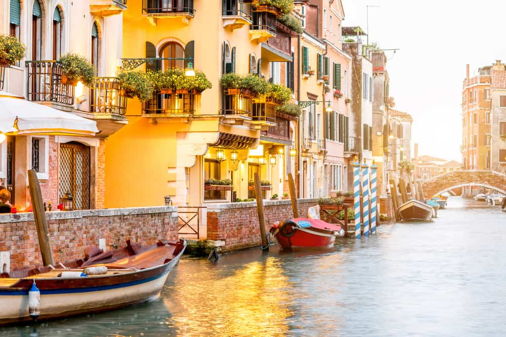 A stunning canal view in Dorsoduro, a great choice of where to stay in Venice