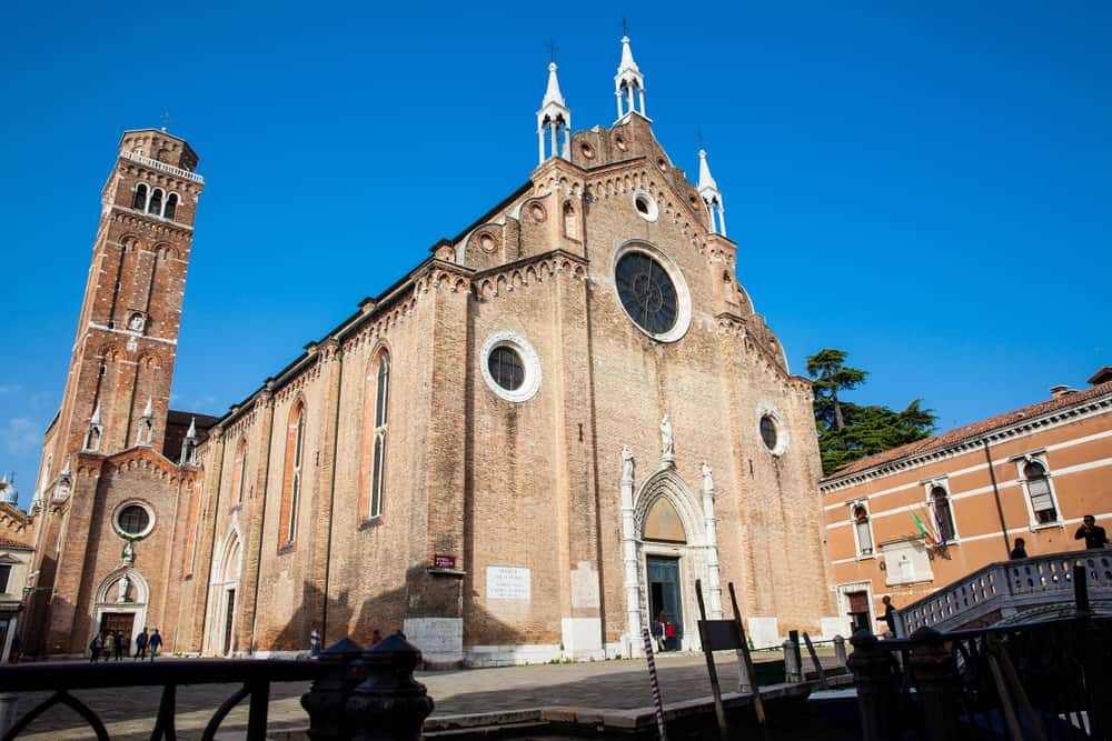 A beautiful view of a church in San Polo, a great choice of where to stay in Venice