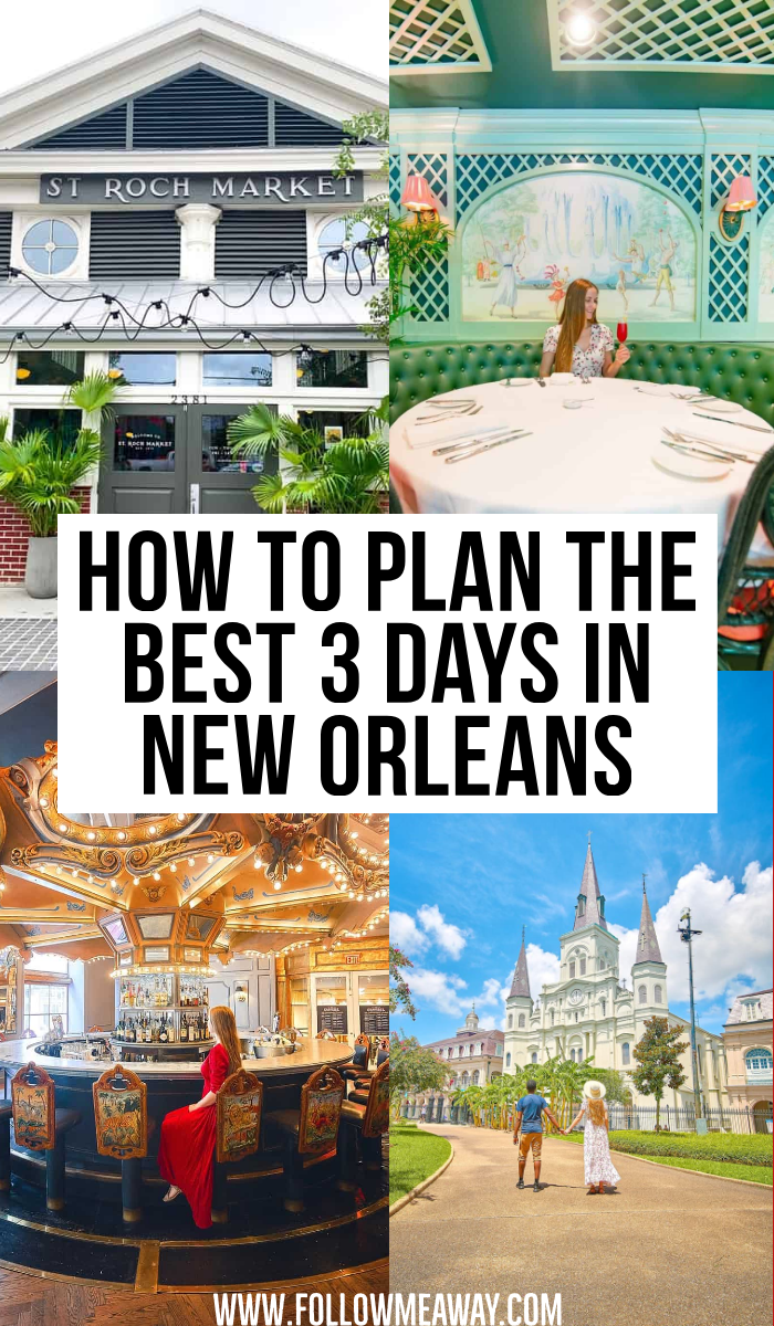 How To Plan The Best 3 Days In New Orleans | Bucket list locations in New Orleans | beautiful locations in New Orleans | instagrammable locations in New Orleans | best instagram photo spots in New Orleans | best places to eat in New Orleans | cutest streets in New Orleans | travel guide for New Orleans | couples travel in New Orleans | tips for discovering New Orleans | traveling New Orleans like a pro | best places to see in NOLA | best places to stay in NOLA | cutest streets in NOLA | best photo spots in NOLA | instagrammable streets in NOLA | Frenchman Street in New Orleans | Jackson Square in New Orleans | prettiest places in the French Quarter | how to find the best spots in New Orleans | travel itinerary for 3 days in New Orleans | tips for a weekend in New Orleans | cultural hot spots in New Orleans #traveltips #neworleans #NOLA