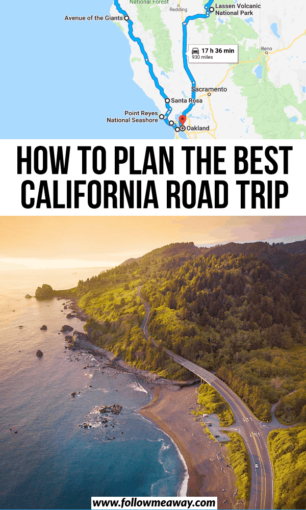 how to plan the best california road trip