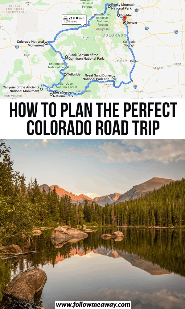 how to plan the perfect colorado road trip
