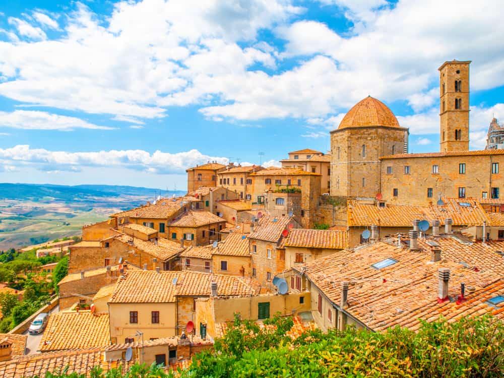 small italian town volterra