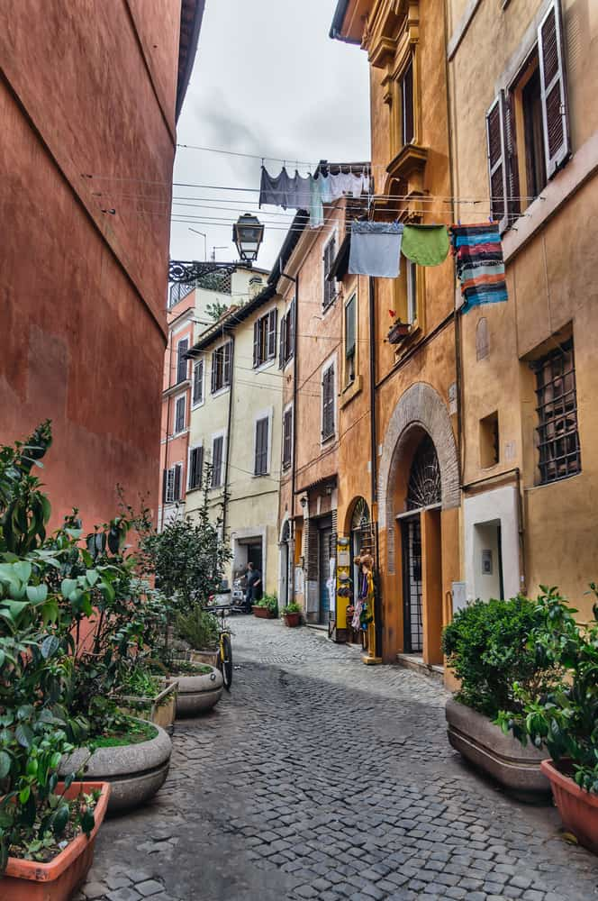 Enjoy the lively neighborhood of Trastevere