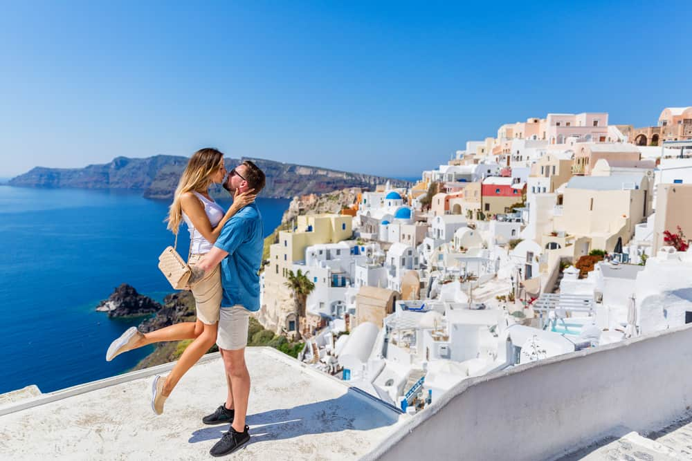 Photo of couple in Greece.