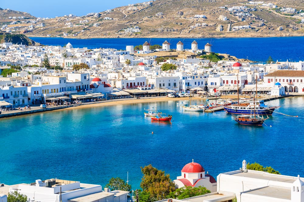 Photo of Mykonos, a great location for your Greece honeymoon.