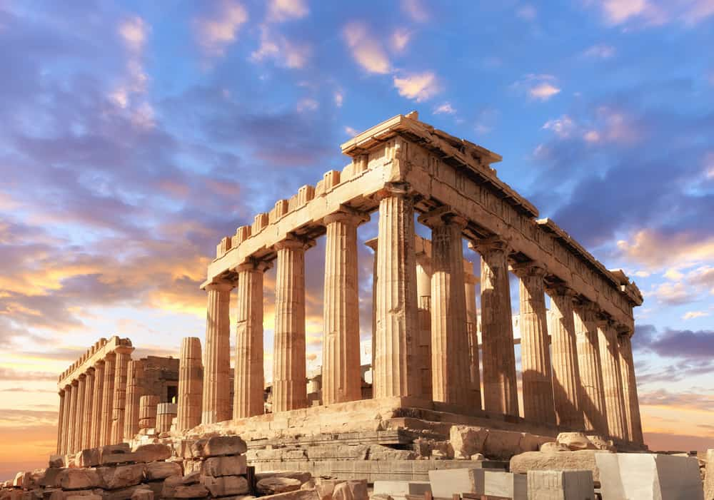 Photo of the Parthenon.